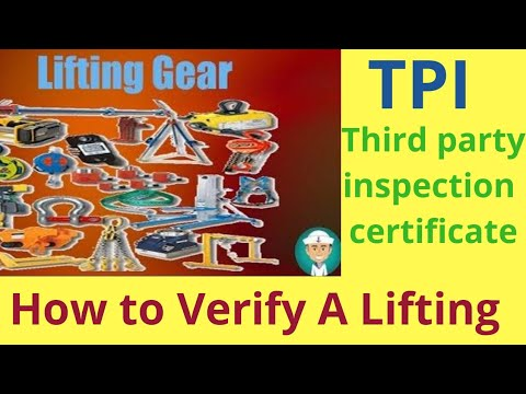 Tutorial On Third Party Inspection And How 2 Find Out Safety Information||Lifting Accessories||crane