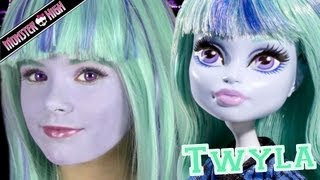 Monster High Twyla Doll Costume Makeup Tutorial for Halloween or Cosplay  |  KITTIESMAMA