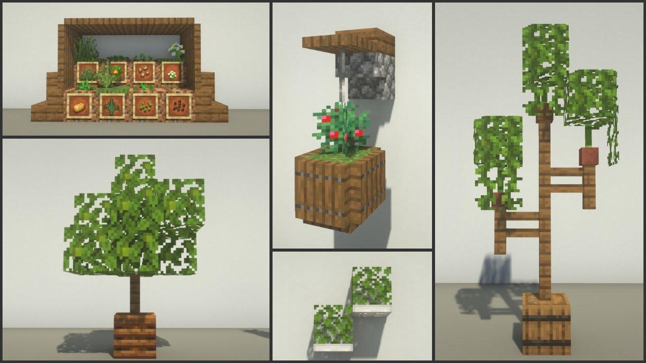Minecraft 30 Garden Decoration Ideas Youtube