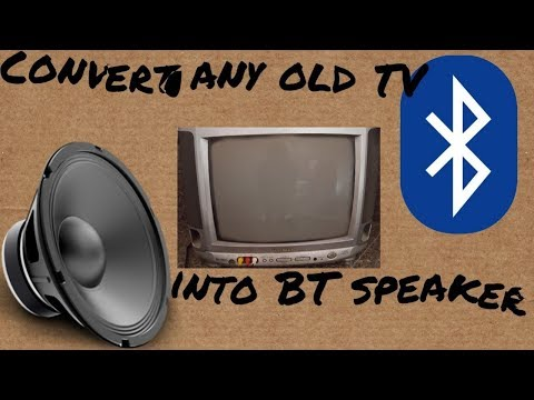DIY - Convert any old TV into Bluetooth speaker