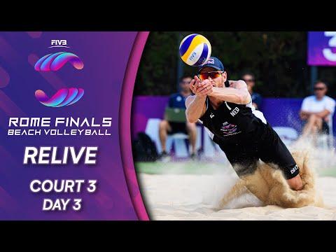 FIVB Beach Volleyball World Tour Finals 2019   Court 3 - Day 3    Rome