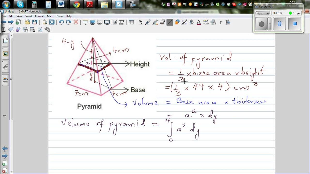 Proof of volume of pyramid using integration youtube proof of volume of pyramid using integration ccuart Choice Image