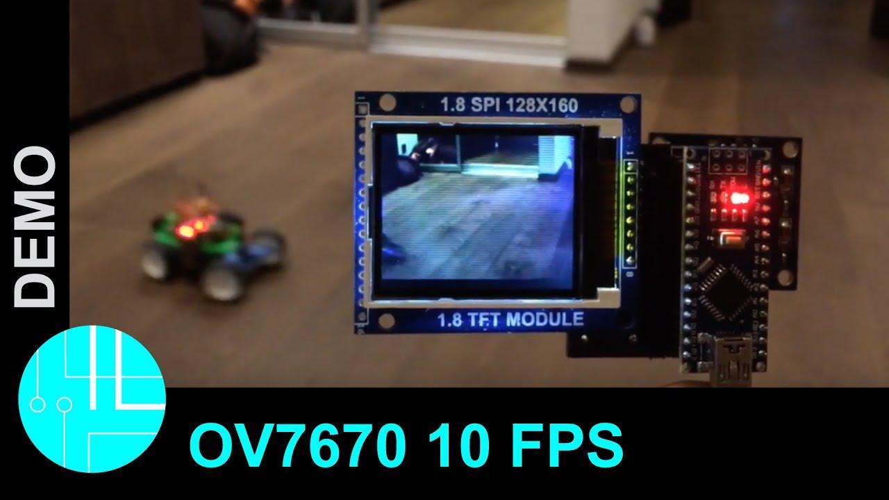 Ov live image with arduino frames per second