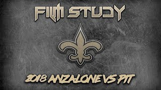 Alex Anzalone vs Pittsburgh Steelers - Saints 2018 Film Study w/ Patrons