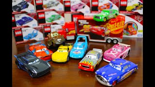 Disney Cars Tomica (toy car) Unboxing Learning colors for kids / mater king Chick hicks Mack etc