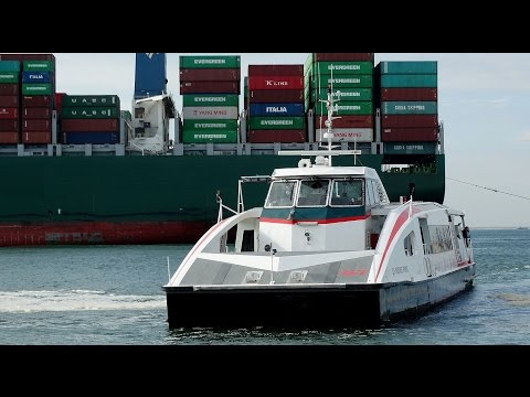 Varen met de RET Fast Ferry 'De Nieuwe Prins' / Rotterdam Europoort 2016