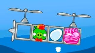 МАШИНКА ВЕРТОЛЕТ Самолет в Bad Piggies #18 игра по мультик. Веселая игра для детей с Кидом