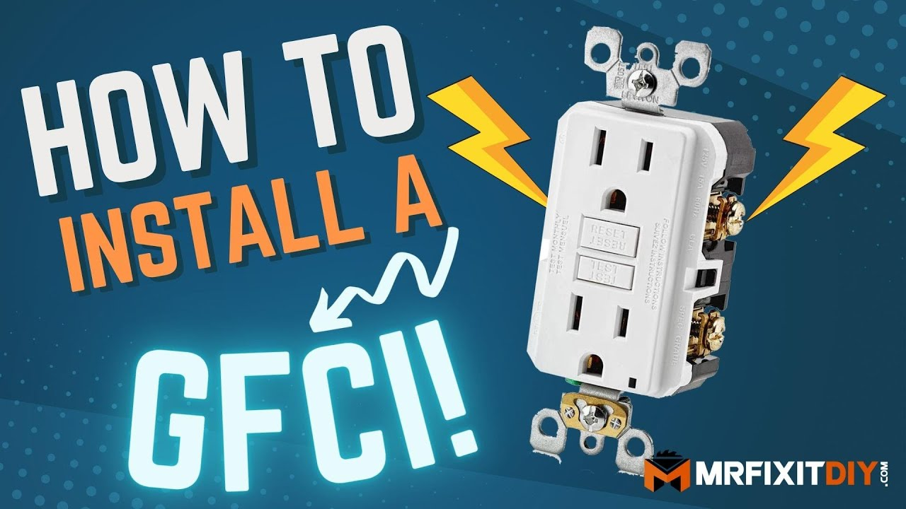 How To Install A Gfci Outlet Youtube Wiring
