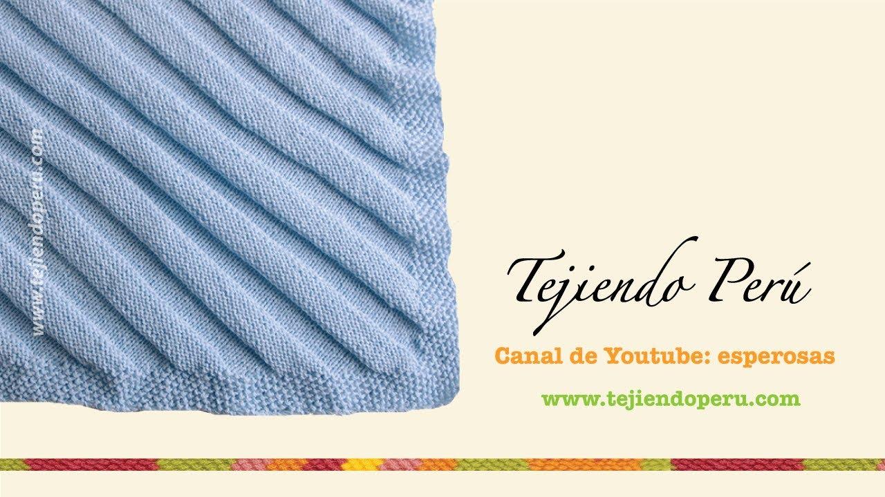 Dos agujas: cóm tejer una manta o colchita para bebés (Parte 1 ...