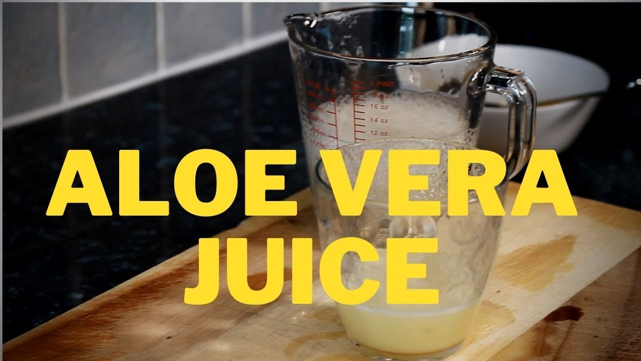ALOE VERA GINGER LEMON JUICE | HOW TO MAKE ALOE VERA JUICE NATURAL BENEFITS CURES Chef Ricardo !