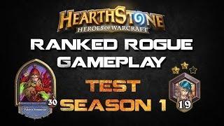 Hearthstone Ranked Rogue Gameplay Season 1 - 2 Star Rank 19 (novice Engineer)