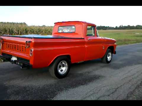 63 chevy truck burnout - YouTube