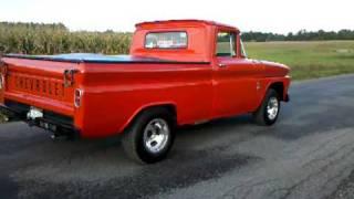 63 chevy truck burnout