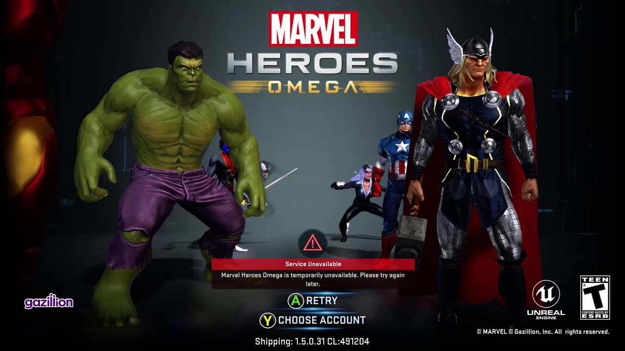 Marvel Heroes Omega - The Servers Are Officially Shut Down  Forever  RIP