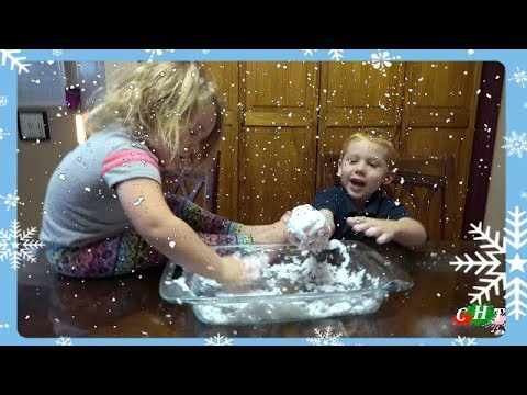 MAKE YOUR OWN SNOW KIDS ACTIVITIES FROZEN SURPRISE TOYS KIDS SCIENCE