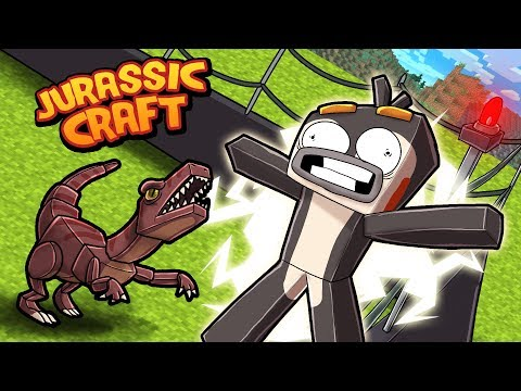 Minecraft Jurassic Craft - MY DINOSAUR ESCAPES!
