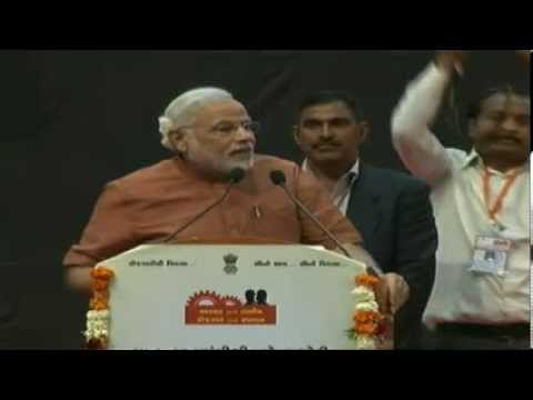Shri Modi launches new schemes of Employment and Training department at Mahatma Mandir - Speech