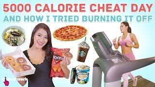 5000 Calorie Cheat Day & How I Tried Burning It Off - No Sweat: EP5
