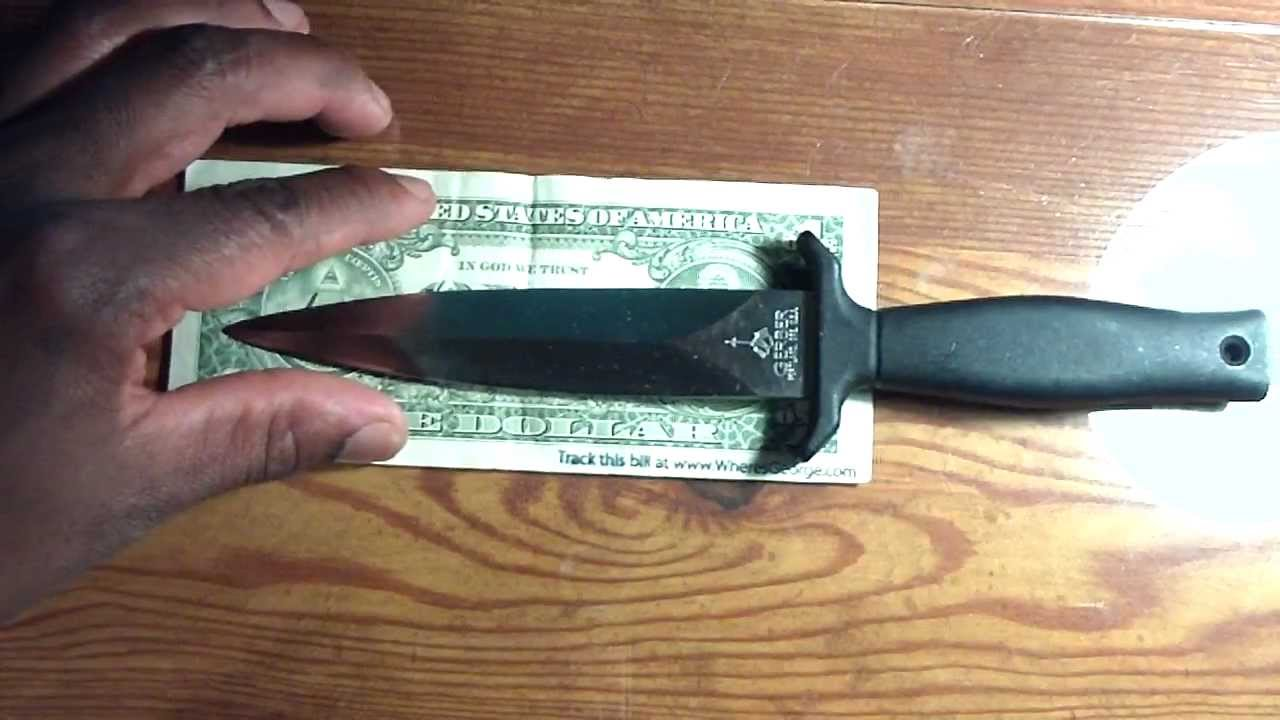 Gerber Mark 1 Boot Fighting Knife Youtube