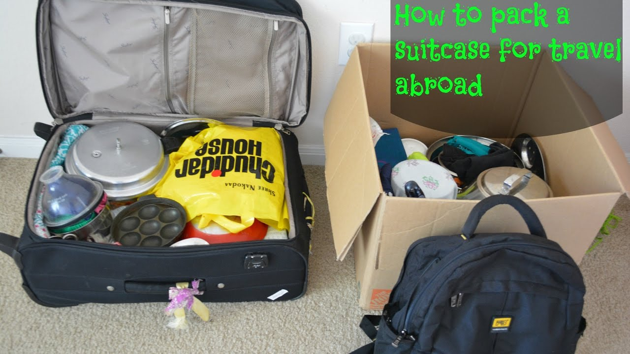 How to pack a suitcase while travelling from India to abroad - YouTube 38c52e06118dd