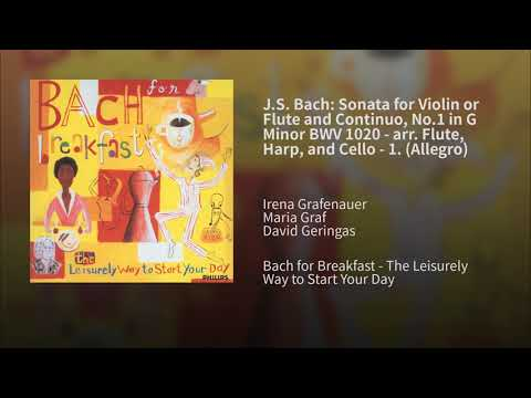 J.S. Bach: Sonata For Violin Or Flute And Continuo, No.1 In G Minor BWV 1020 - Arr. Flute
