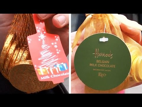 Christmas Chocolate Coin Taste Test: Poundland Versus Harrods