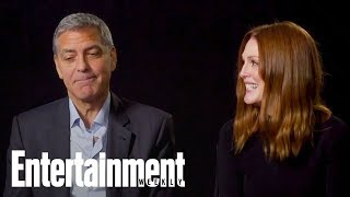 Suburbicon's George Clooney, Julianne Moore Talk Collaborating For First Time | Entertainment Weekly