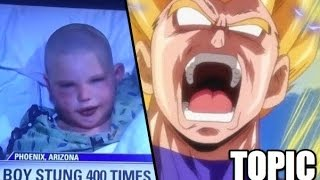 Boy Survives Deadly Bee Attack with Dragon Ball Z Technique??!!ドラゴンボール超
