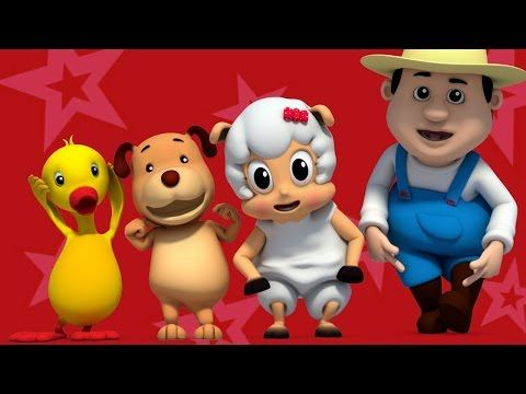 Head Shoulder Knees And Toes  3D Ba Songs  Nursery Rhymes  Farmees