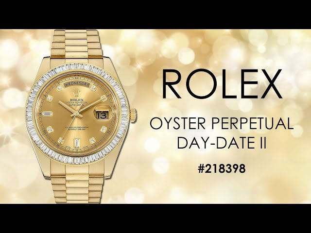 Rolex Day Date II Yellow Gold Watch 218398