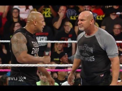 Wwe Raw 11 January 2017 The Rock vs Goldberg on Royal ...