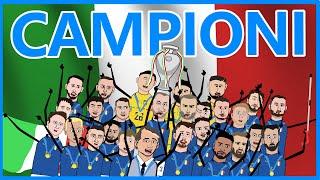 UEFA EURO 2020 - L'ITALIA È CAMPIONE D'EUROPA - PARODIA CARTOON - Parte 2