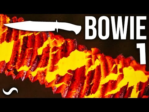 MAKING A BOWIE KNIFE WITH TWIST DAMASCUS!!! Part 1