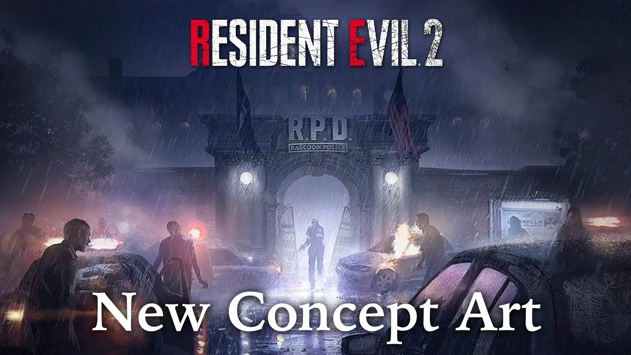 New Resident Evil 2 Remake Concept Art New Look Claire Leon
