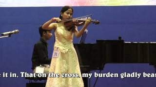 """How Great Thou Art"" for violin & piano played by a Cambodian girl"