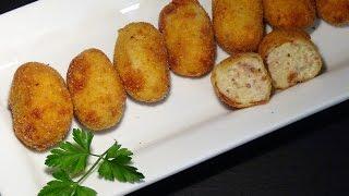 Receta Croquetas de jamón - Recetas de cocina, paso a paso, tutorial