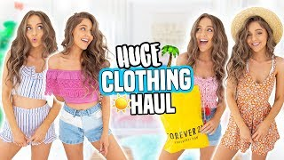 HUGE TRY-ON CLOTHING HAUL! Forever 21, PacSun, Hollister and more!