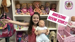 AWESOME LITTLE GIRLS ROOM TOUR WITH ALIYAH AND HER REBORNS