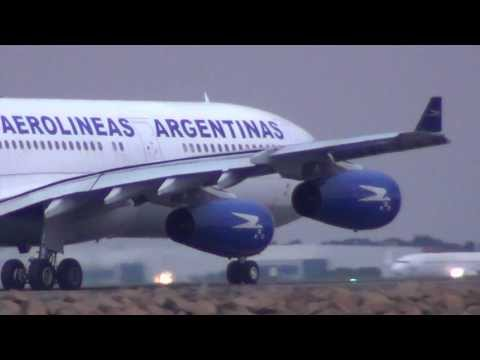 Aerolineas Argentinas Airlines A340-200 (LV-ZPX) takeoff I Sydney Int'l Airport HD