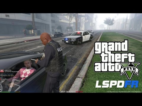 GTA 5 - LSPDFR - EPiSODE 3 - LET'S BE COPS - SLICKTOP PATROL (GTA 5 PC POLICE MODS)