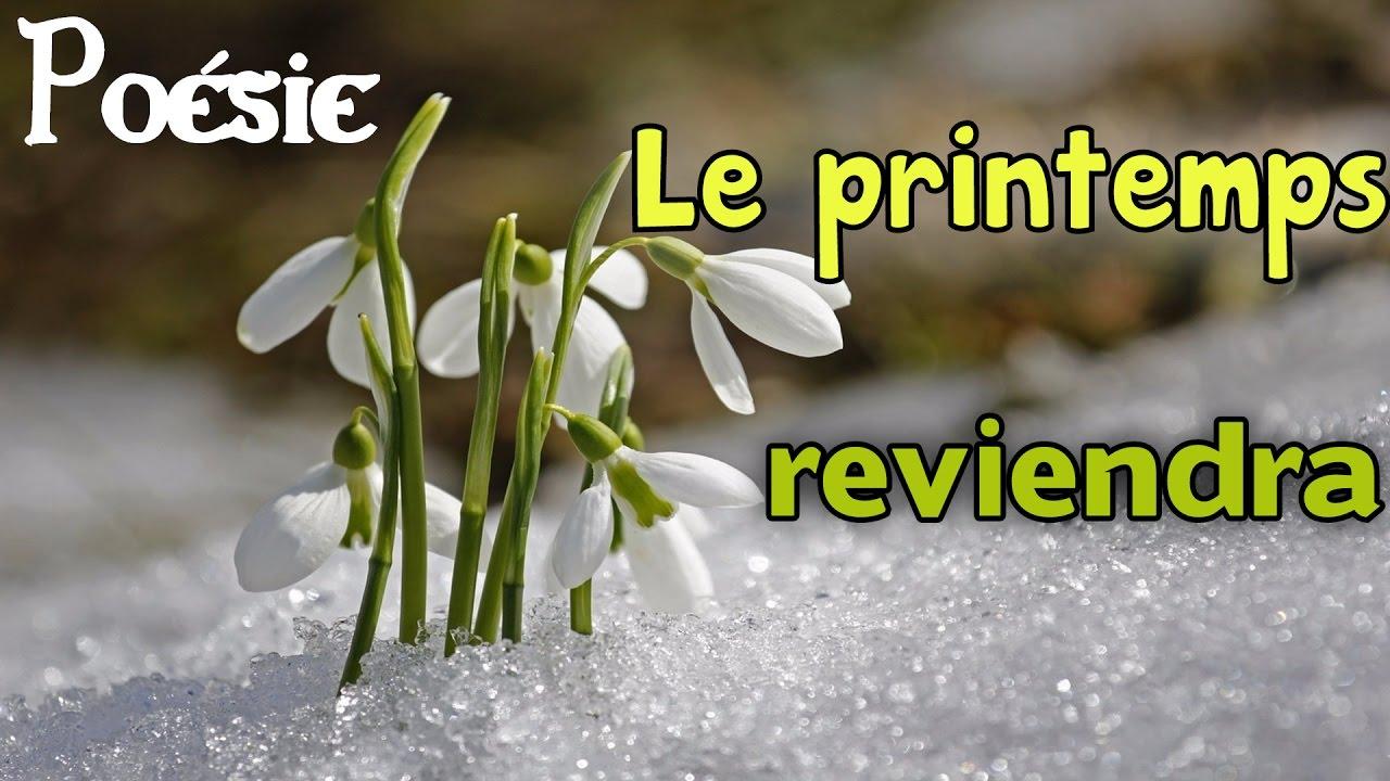 French Poem Le Printemps Reviendra By Maurice Carême