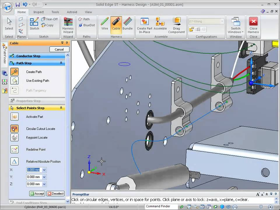 maxresdefault solid edge st2 ironeagle wire harness design part 1 youtube wire harness designer at virtualis.co