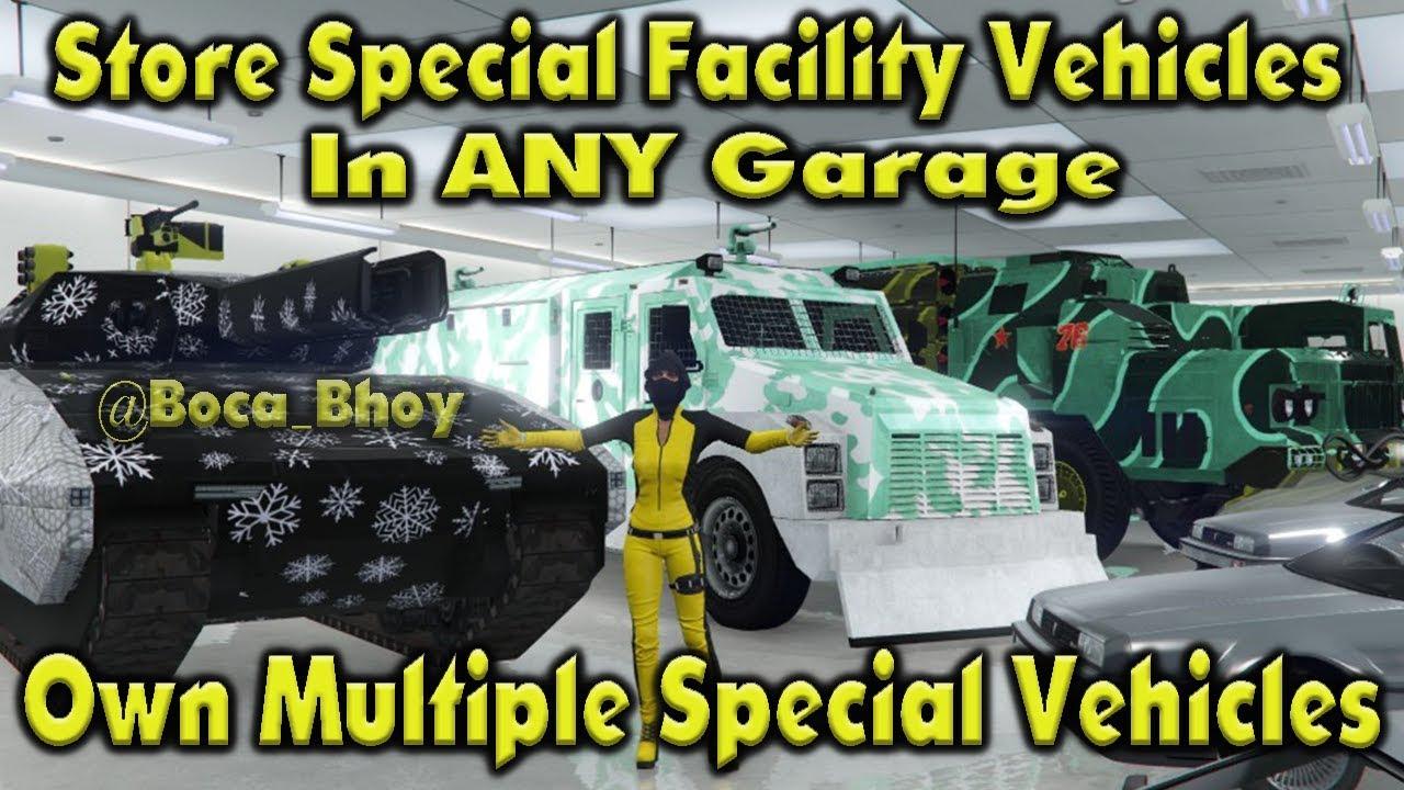 gta 5 facility vehicle storage