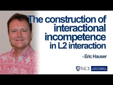 The construction of interactional incompetence in L2 interaction