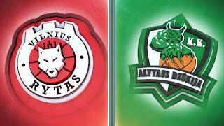 """Betsafe-LKL"" čempionato rungtynės: Vilniaus ""Rytas""  — Alytaus ""Dzūkija"""