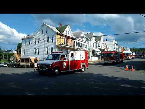 The Starting Point of Mount Carmels Fire Truck Parade 7 - 28 - 2018