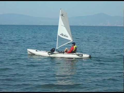 Hobie mirage Oasis solo sailing