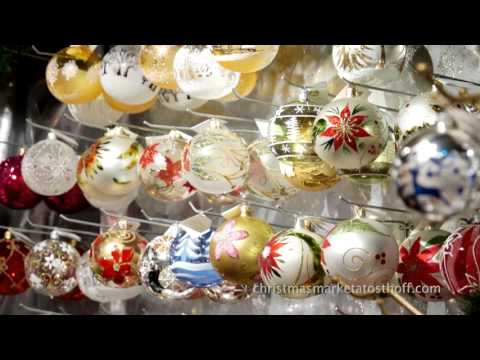 Old World Christmas Market in Elkhart Lake - European Trading Co. Glass Ornaments