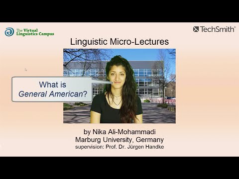 Linguistic Micro-Lectures: General American (English)