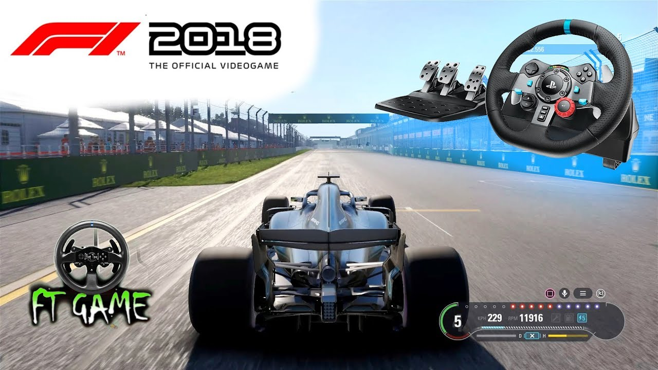 F1 2018 Gameplay and Logitech G29 & G920 Settings!